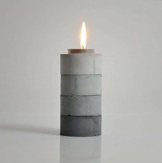 Diy Stackable Gradient Candle Holders Cement Tea Ligh