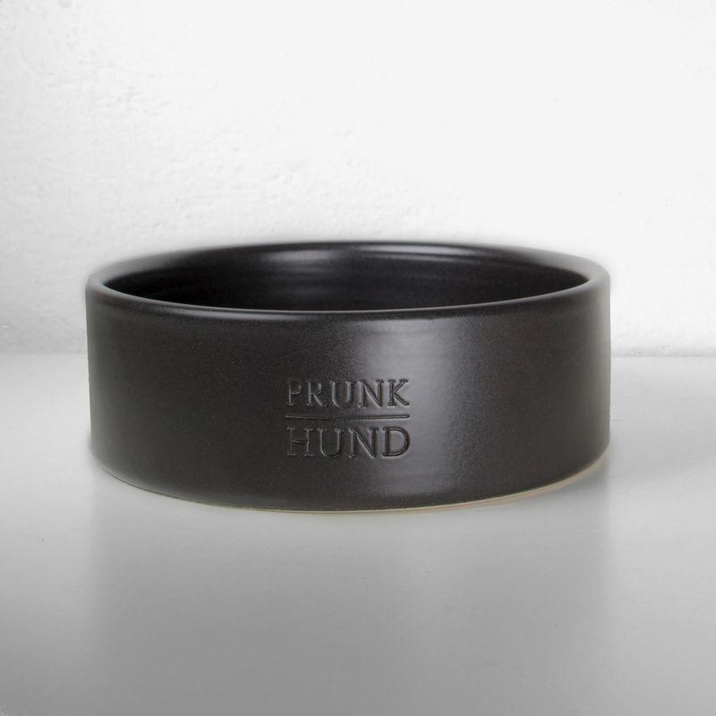 Black Ceramic Dog Bowl