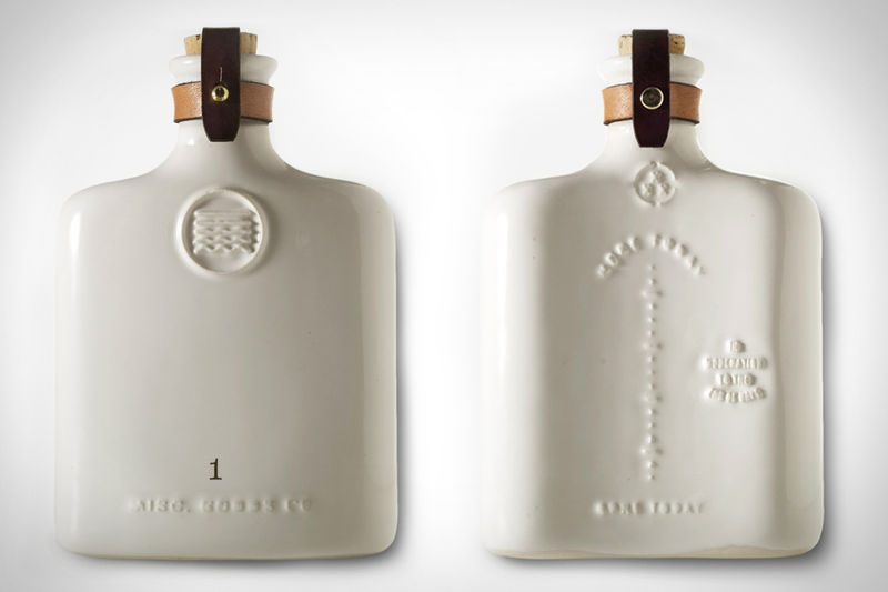 Embossed Ceramic Flasks