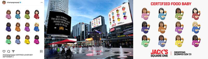 Toronto Rapper-Themed Food Ads