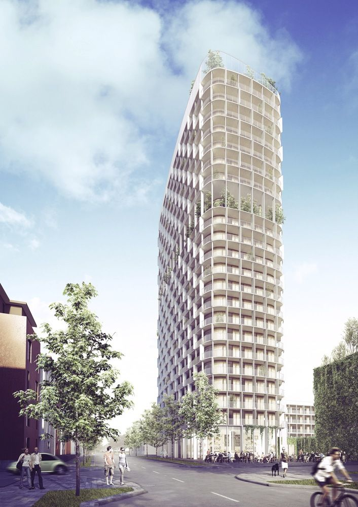 Hybrid Concrete-Wood Towers