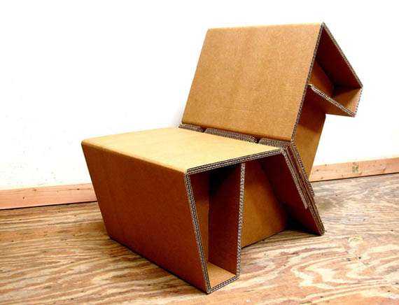 Folded Cardboard Furnishings