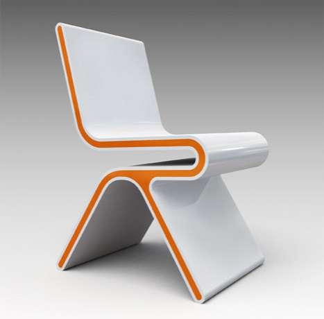 Futuristic Creamsicle Seats