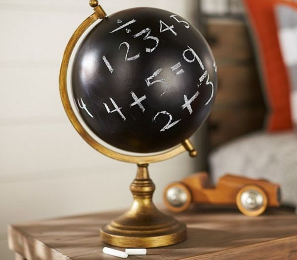 Educational Chalkboard Globes
