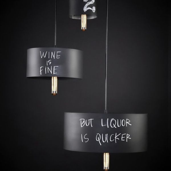 Chalkboard Light Pendants