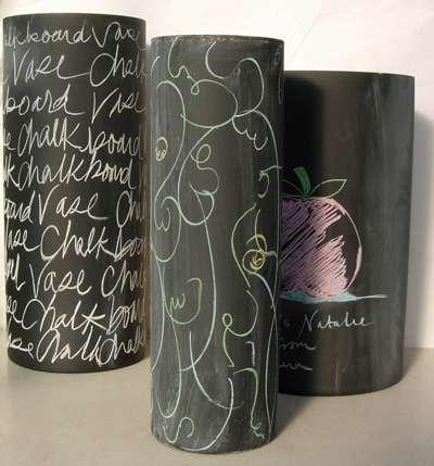Chalkboard Vases