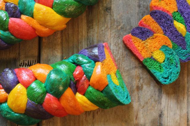 Multicolored Challah Bread