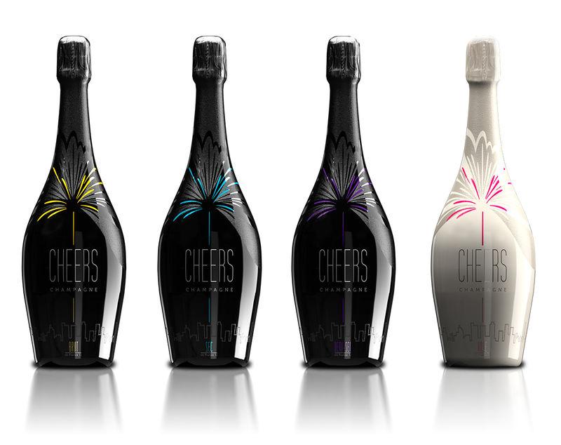 Celebratory Champagne Branding