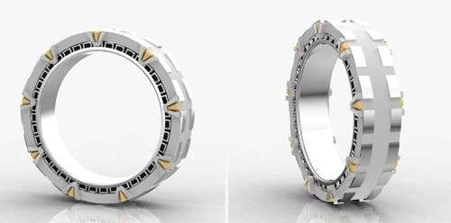 Sci-Fi Matrimony Rings