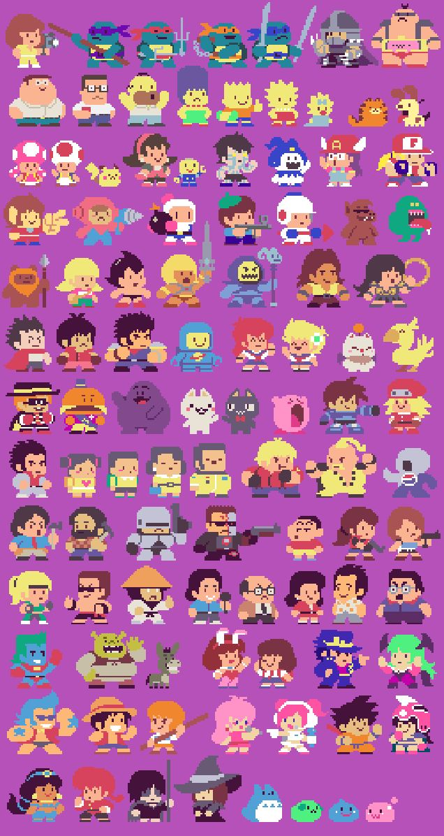 Pixelated Character Illustrations