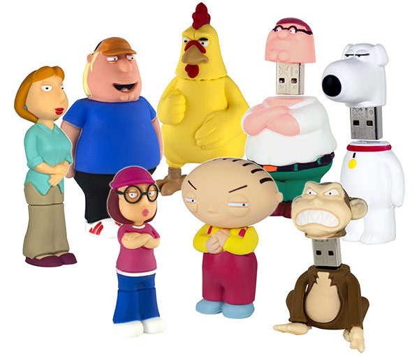 Family Guy Peters Toy Design : Cartoon family flash drives characters from guy