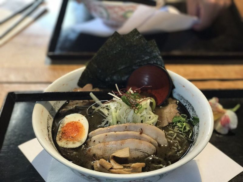 Charcoal-Infused Ramen Dishes