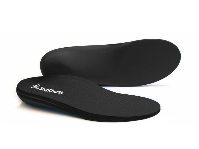 Kinetic Device-Charging Insoles