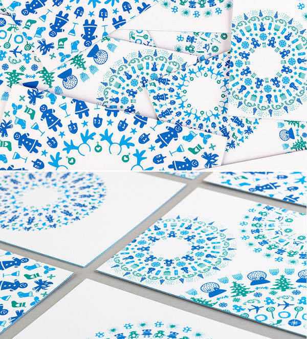 Kaleidoscopic Christmas Cards