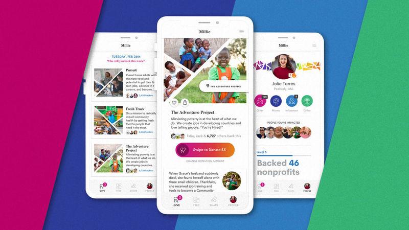 Swipeable Charity Apps