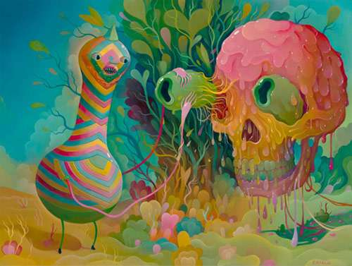 Slimy Psychedelic Paintings