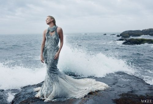 Mermaid Celebrity Shoots Charlize Theron Vogue December 2011