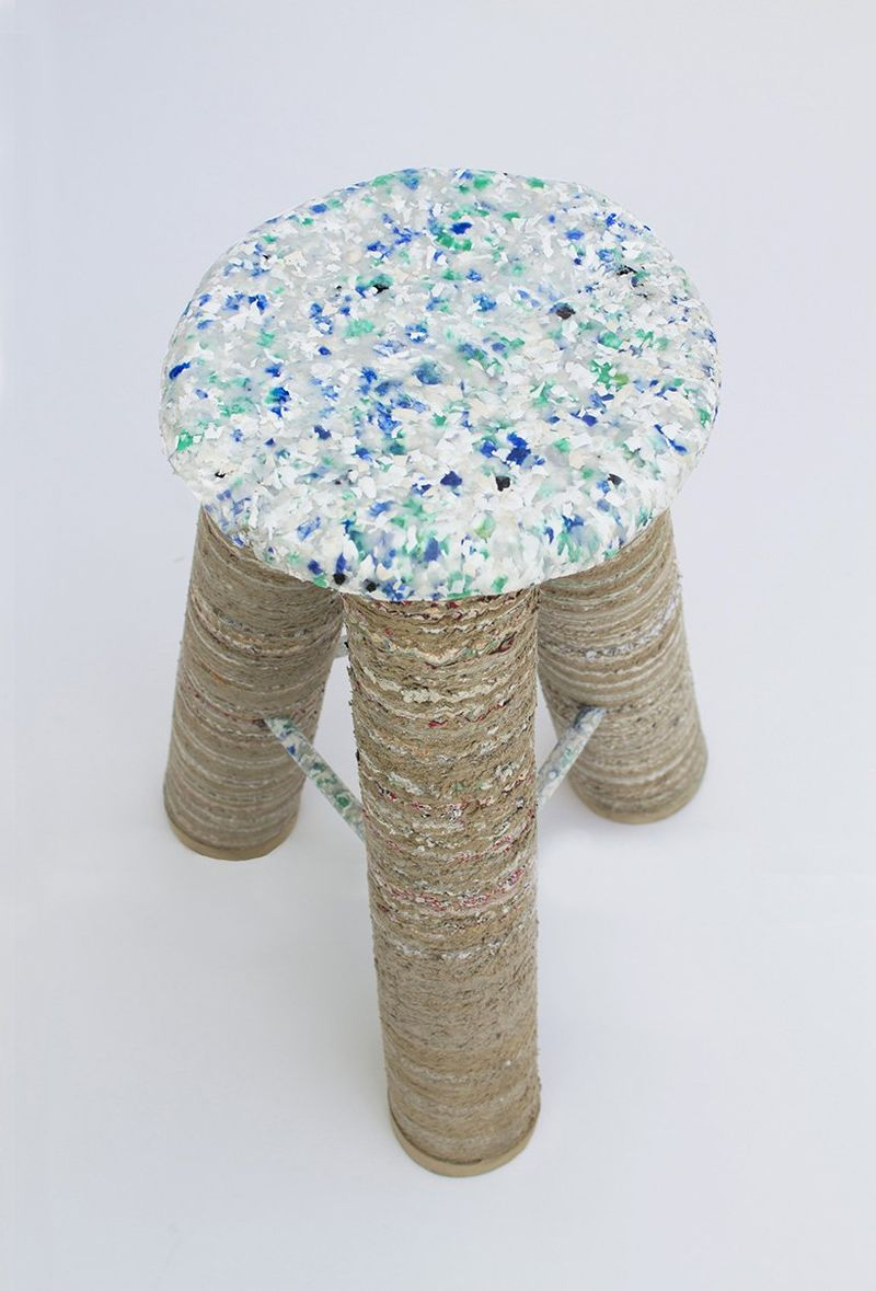 Household Waste-Made Stools