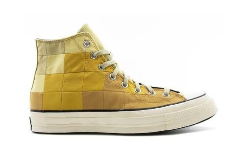 Checkered Patchwork Hi-Top Shoes