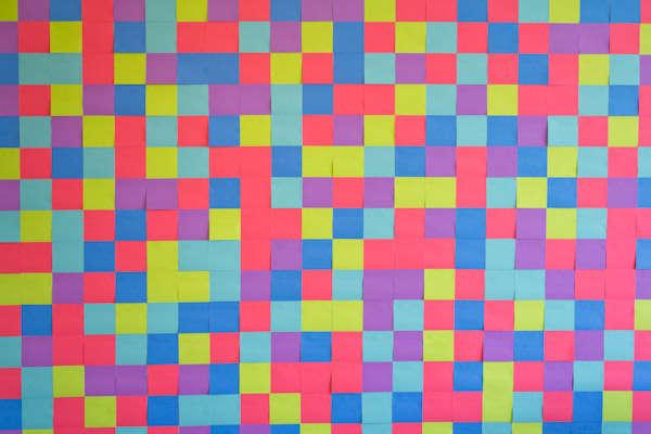 DIY Vibrantly Checkered Wallpaper