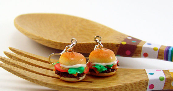 Mini Cheeseburger Earrings