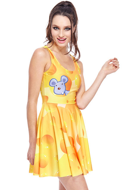 Bizarre Cheese Dresses