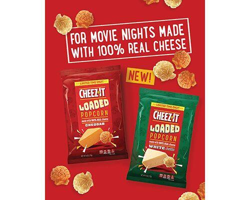 Cheesy Limited-Edition Popcorn Snacks