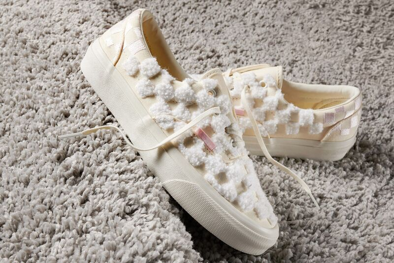 Chenille Checkerboard Sneakers