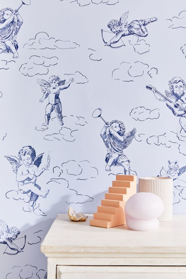 Angel-Themed Removable Wallpaper