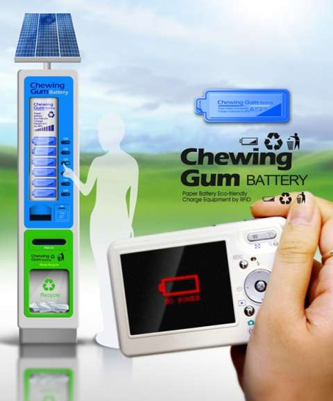 Smartphone Charging Vending Machines Chewing Gum Battery