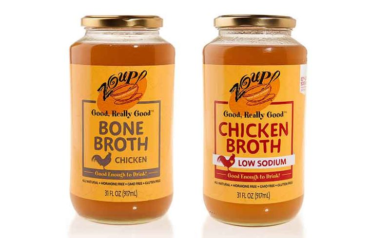 Versatile Jarred Chicken Broths