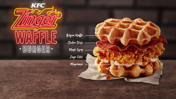 Spicy Chicken Waffle Burgers