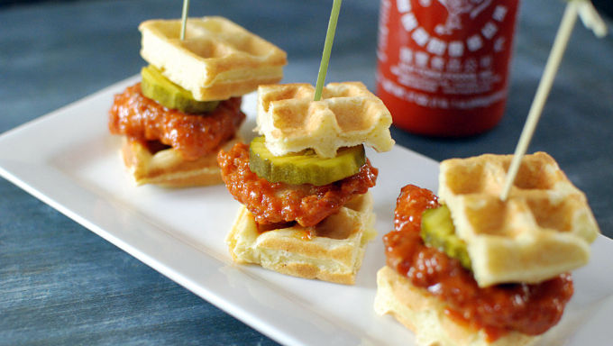 Spicy Waffle Sandwiches