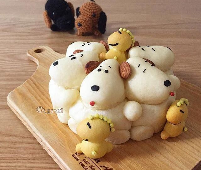 Sculptural Cartoon Breads