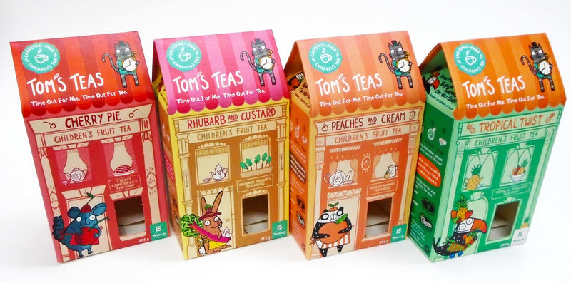 Playful Collectible Tea Packaging