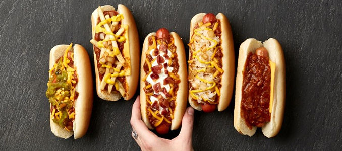 Overloaded QSR Hot Dogs