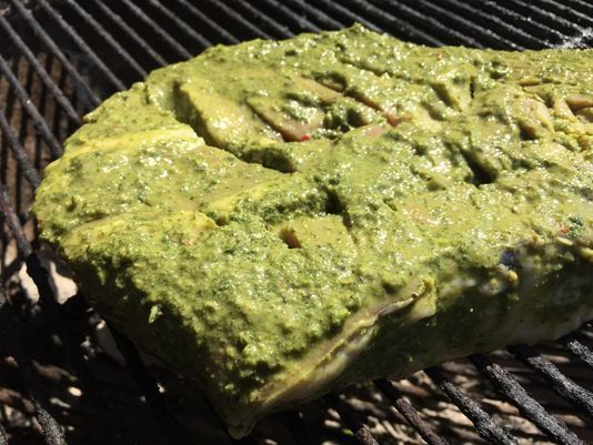Green Chimichurri Steaks