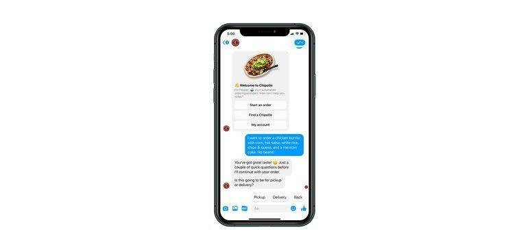 Facebook Messenger Food Ordering