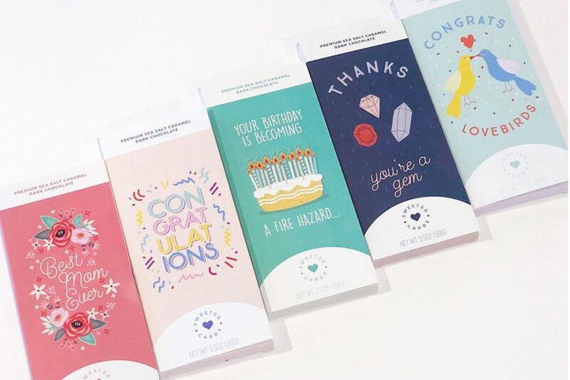 Chocolate Bar Greeting Cards