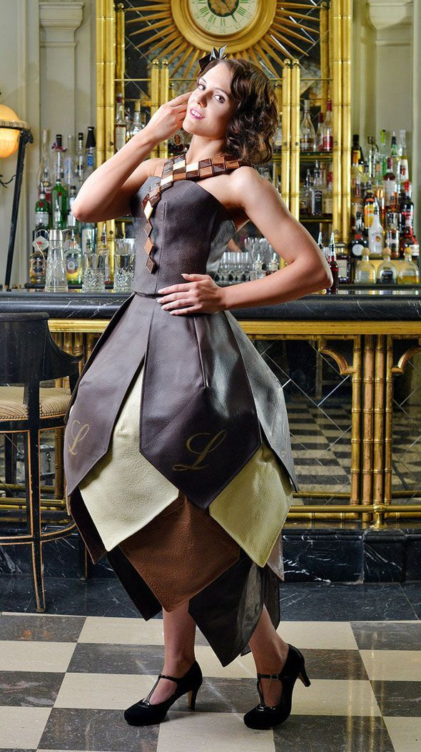 Intricate Chocolate Dresses