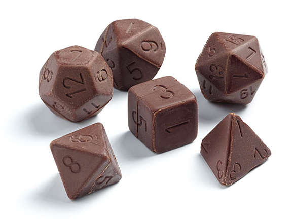 Delectable Candy Dice Chocolate Gaming Dice Set