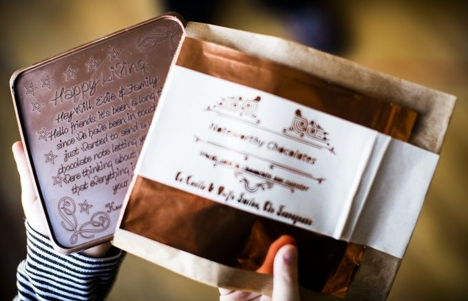 Edible Chocolate Love Notes