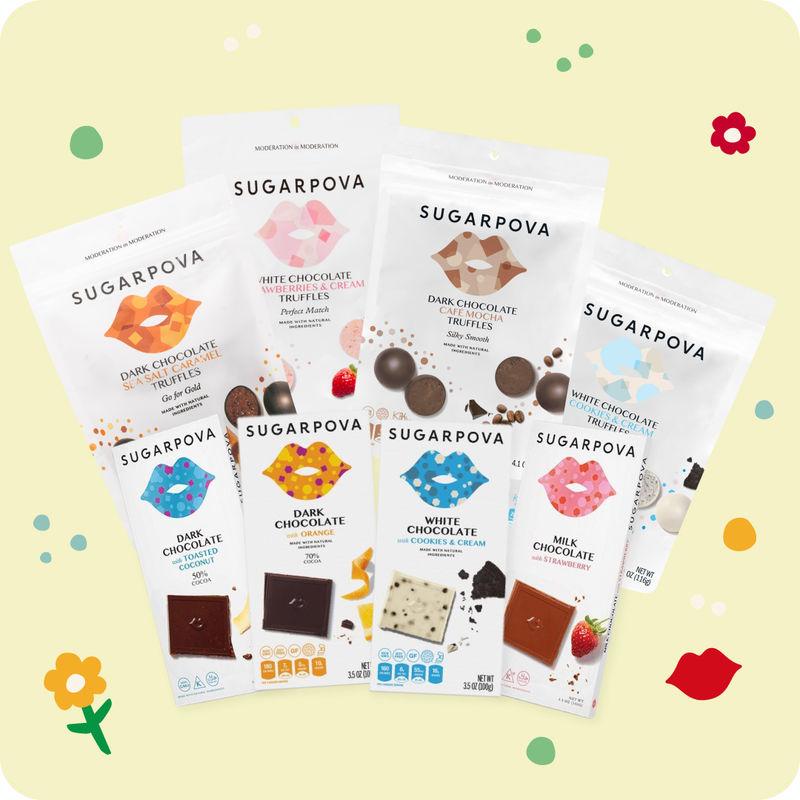 Tennis-Inspired Chocolate Bundles