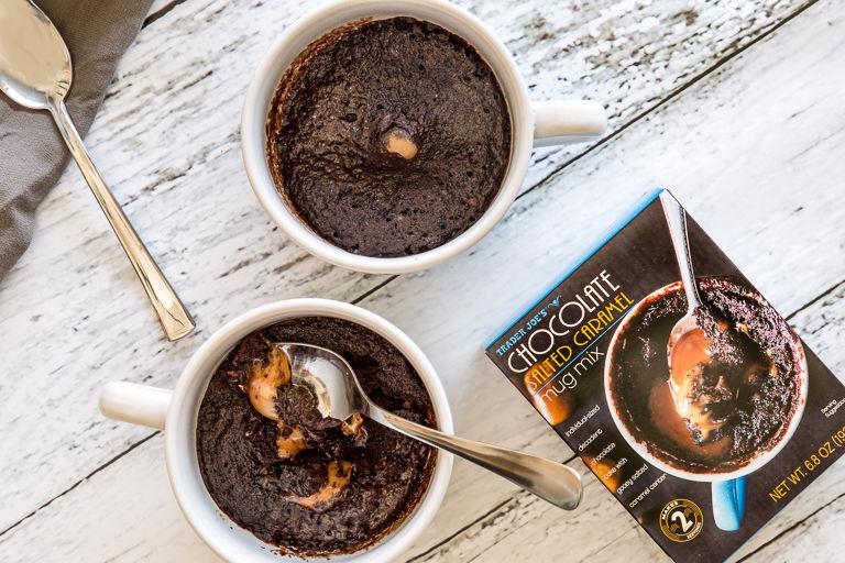 Salted Caramel Mug Cakes