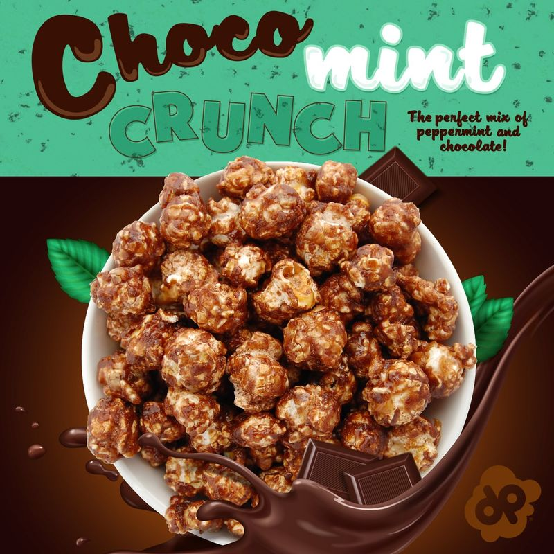 Mint Chocolate Popcorn Snacks