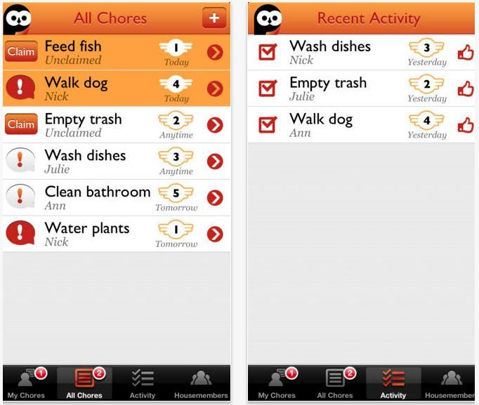 Chore-Tracking Apps