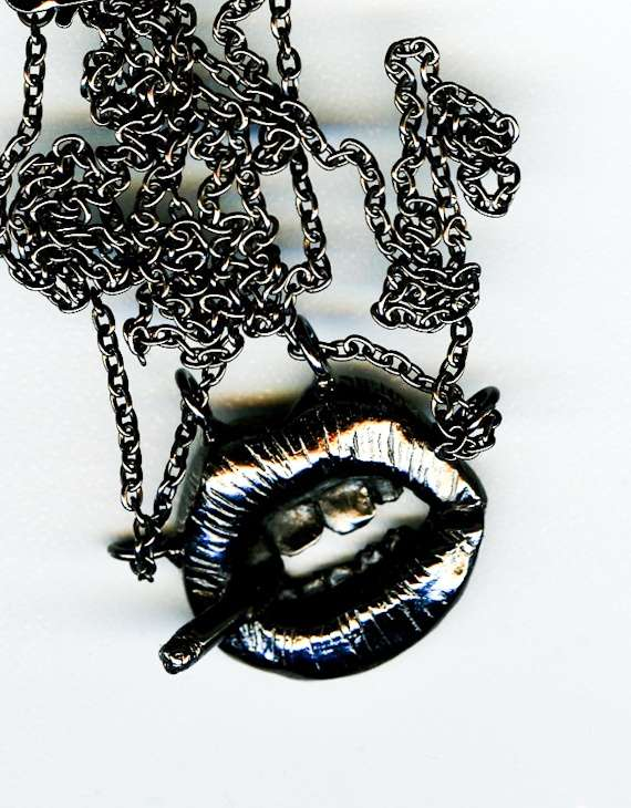 Metal Mouth Pendants