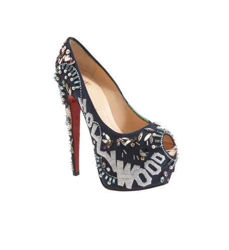 Hollywood-Embellished Heels