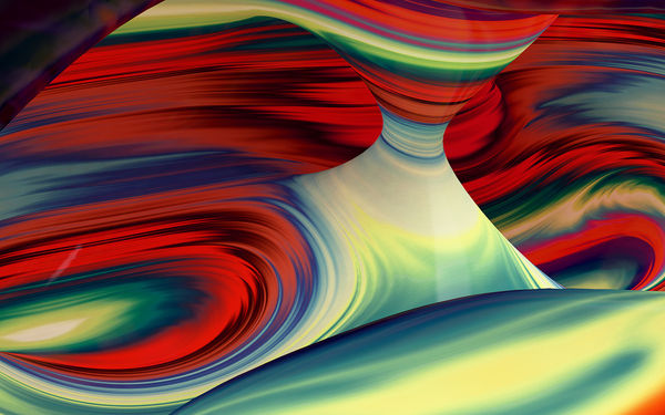 Color-Rippled Digital Art