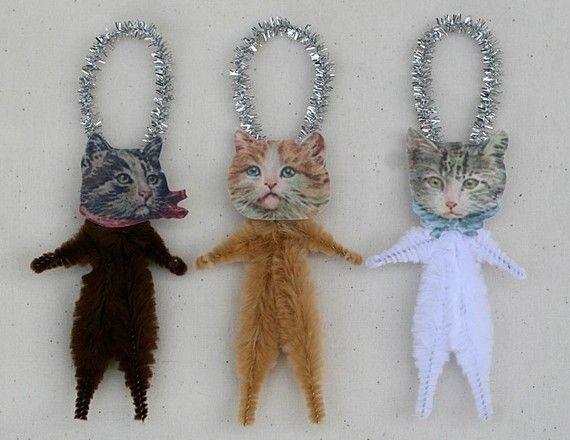 Festive Feline Ornaments